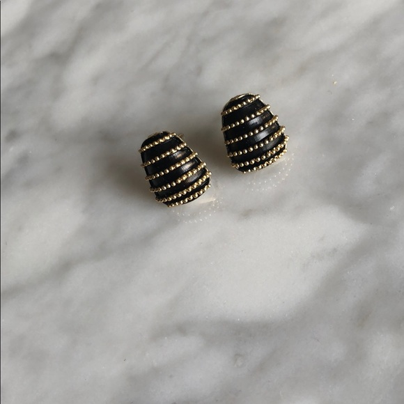 black and gold studs, anthropologie